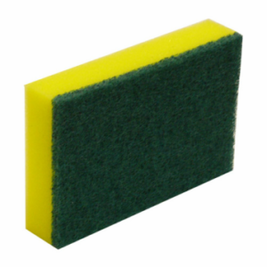 green/yellow sponge scourer